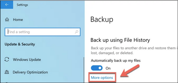Windows-Dateiversionsverlauf deaktivieren