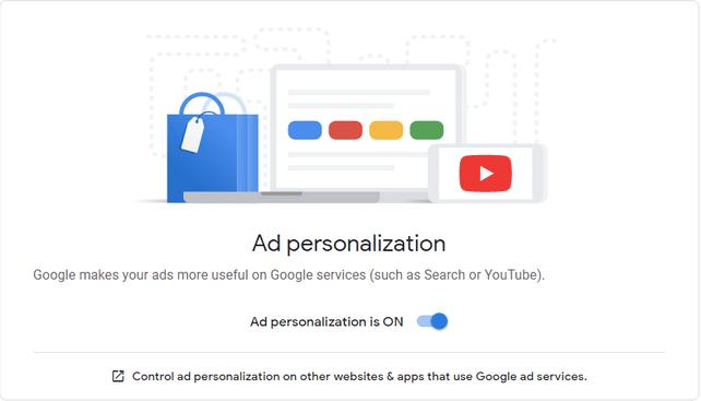 Stoppen Sie personalisierte Anzeigen auf Google