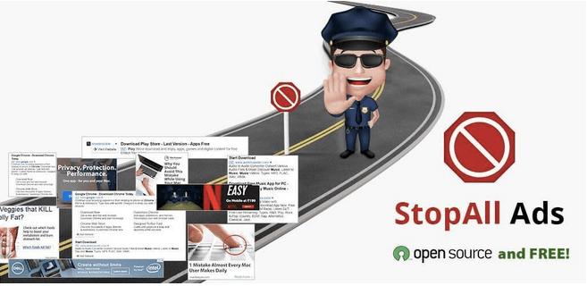 Adblocker-Erweiterung, um alle Anzeigen zu stoppen