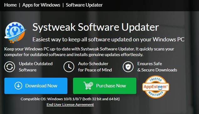 Systweak Software Updater-App