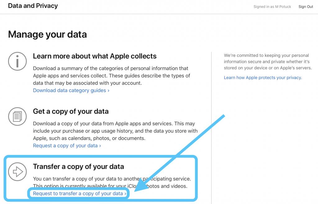 iCloud-Fotos auf Google Fotos übertragen