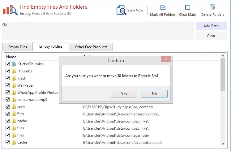 leere Dateien entfernen