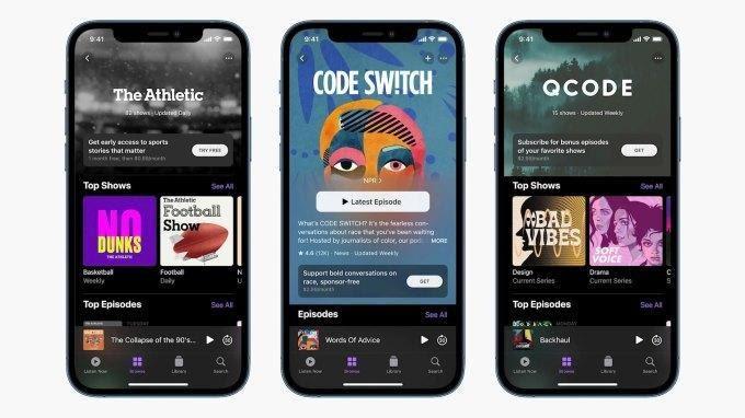 Apple Podcast und iOS 14.5-Updates
