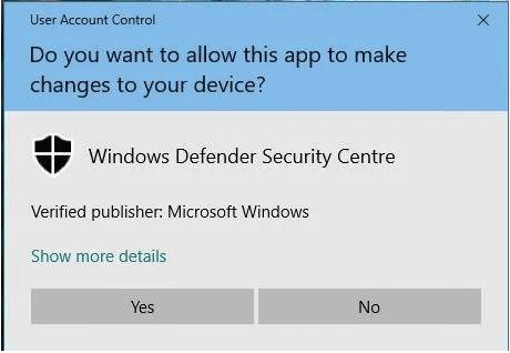 Deaktivieren Sie UAC in Windows 10