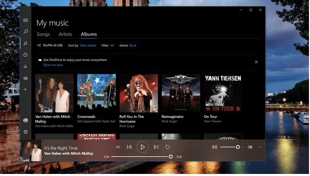 Включить эквалайзер в Groove Music
