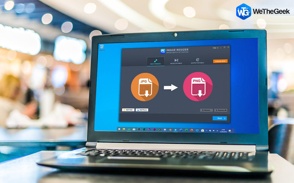 How To Convert JPG To PNG Using Image Resizer In Windows 10 PC?
