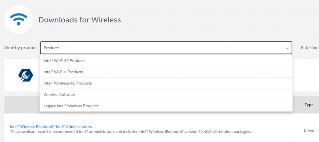 Продукты Intel Wi-Fi 6