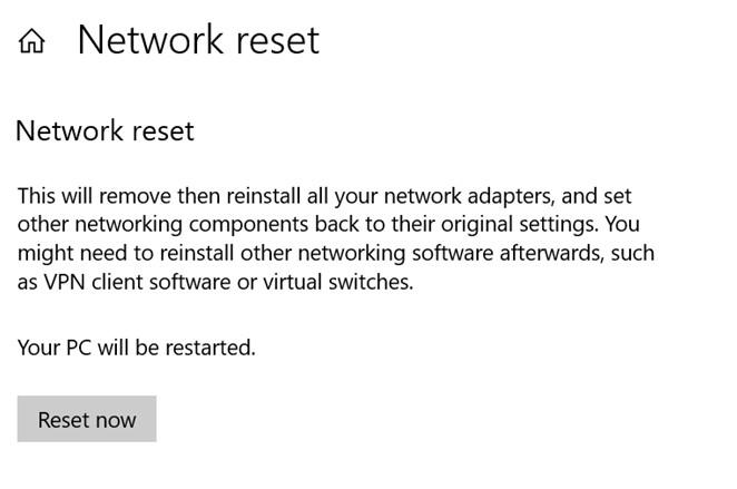 Netzwerk-Reset