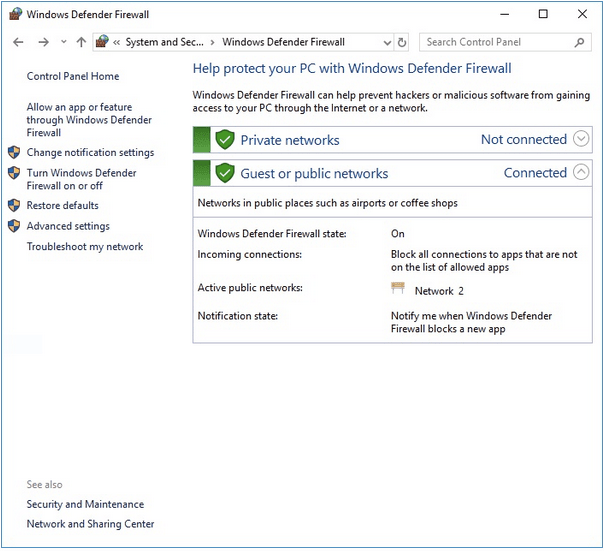 Windows Defender-Firewall