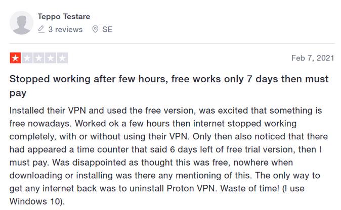 protonvpn Bewertung
