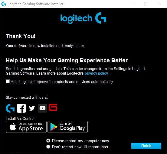Installieren Sie die Logitech G910-Software