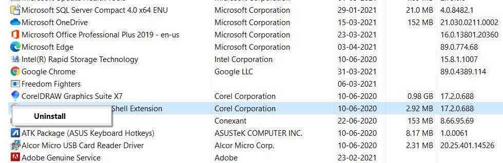 deinstallieren Sie den Chrome.exe-Virus