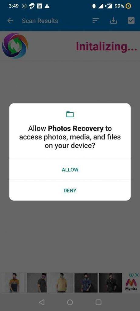 восстановить удаленные фотографии из Instagram