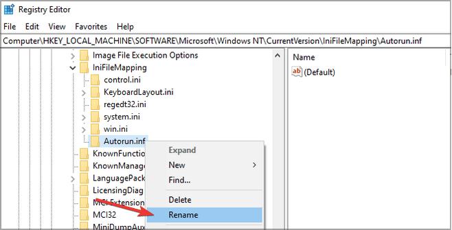 Файл Autorun.inf поврежден или отсутствует