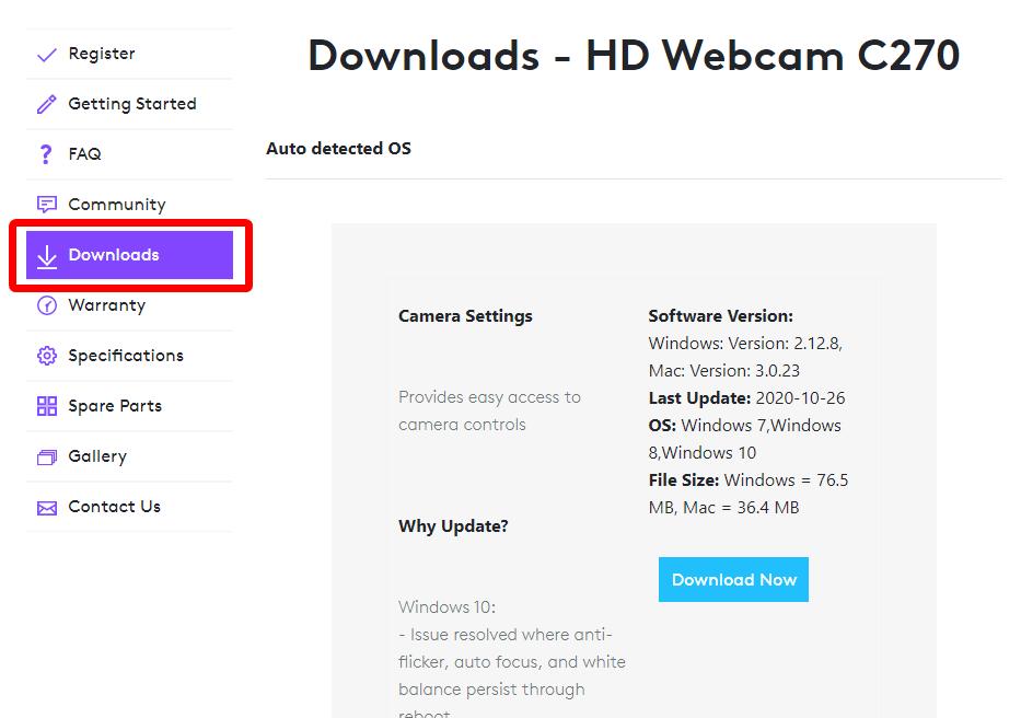 установка logitech webcam c270