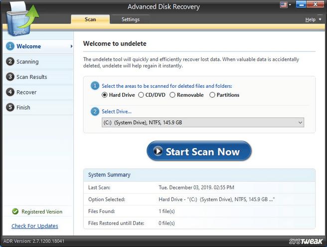 Installieren Sie das Advanced Disk Recovery-Tool