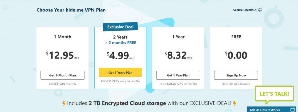 Hide me VPN Цена