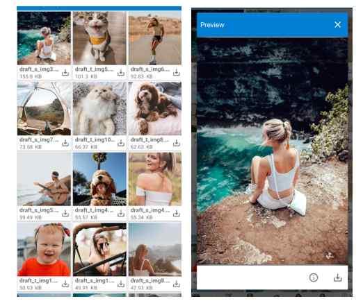 восстановить удаленные фотографии Instagram