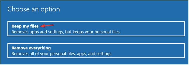 Сбросить этот компьютер