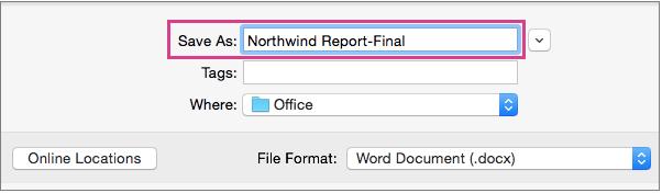 Сохраните документ Word