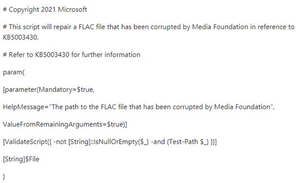 Schwerer Fehler beschädigt FLAC-Audiodateien in Windows 10