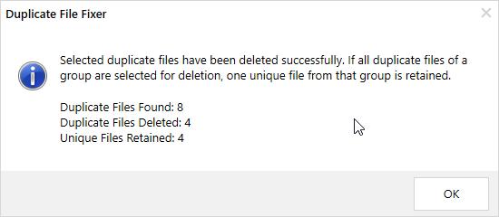Fixer für doppelte Dateien