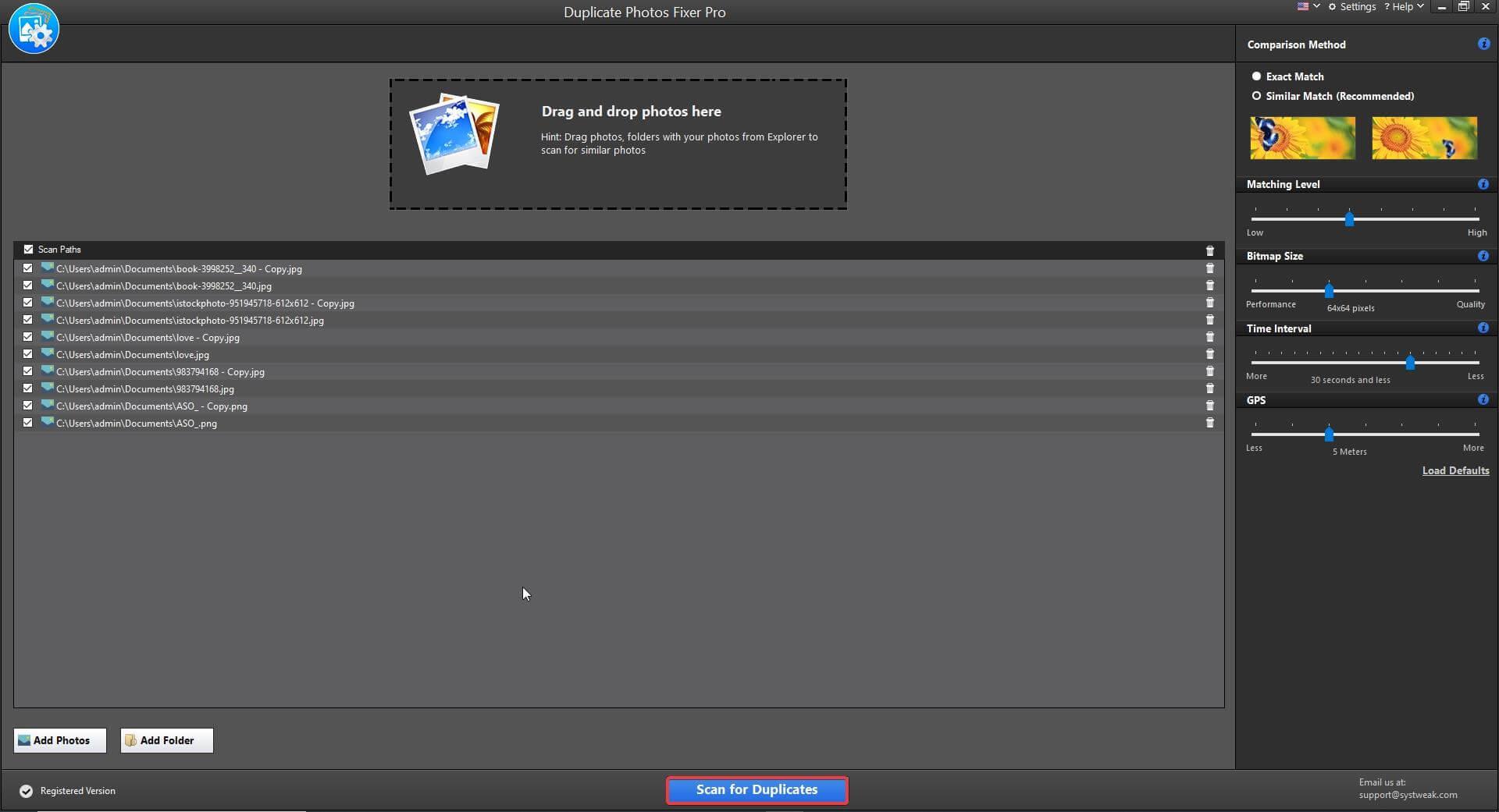 Duplizieren von Fotos Fixer Pro