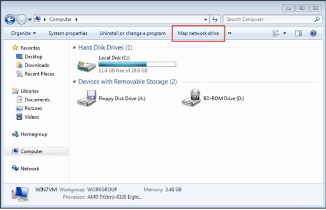 Windows 10 не может подключить сетевой диск