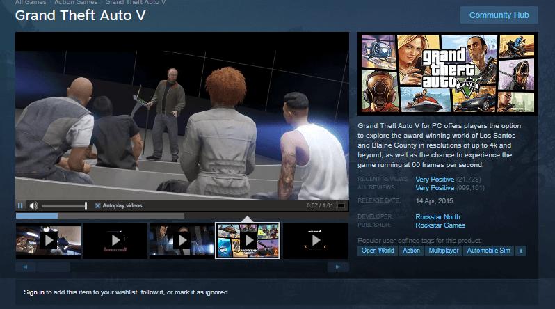 Обновления GTA 5
