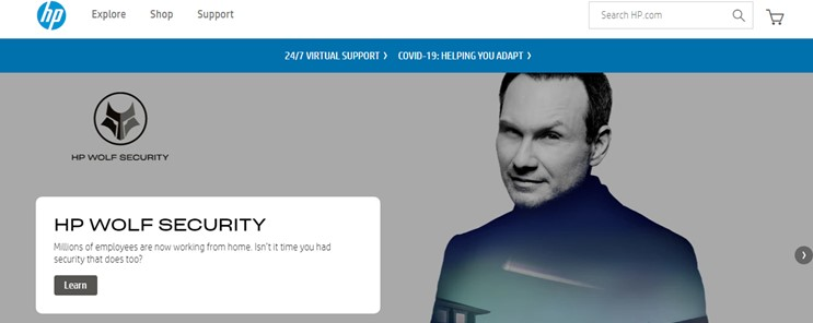 HP Support-Website