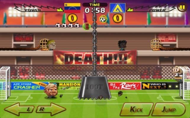 Kopf Fußball