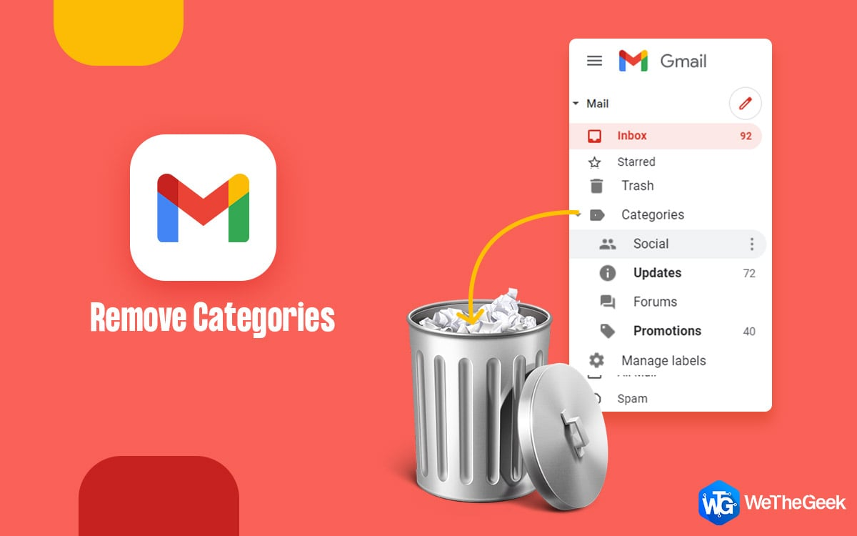 How To Remove Categories In Gmail?