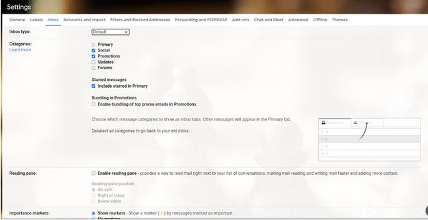 Kategorien aus Google Mail entfernen