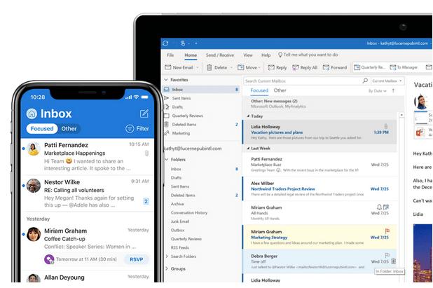 Решить, что Outlook не может подключиться к серверу