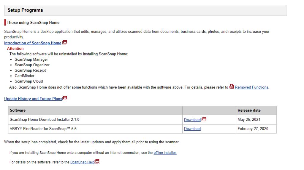 ScanSnap Home Download-Installationsprogramm 2.1.0