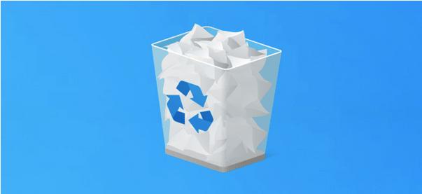 Fehler bei der Zuordnung des Papierkorbs