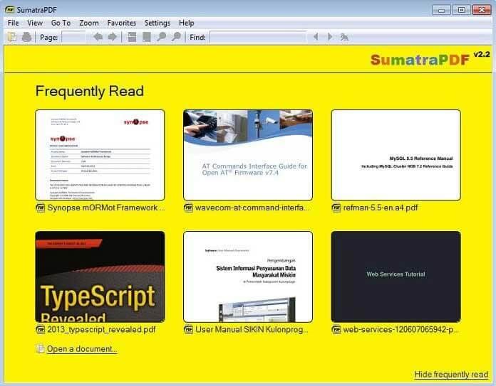 Суматра PDF Reader