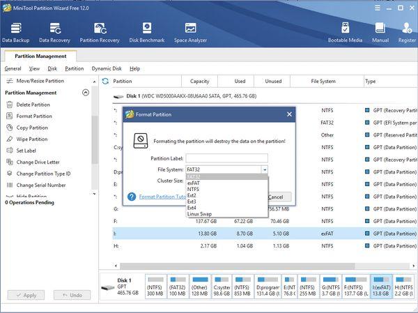 Сторонний инструмент форматирования дисков