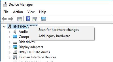 Fenster des Geräte-Managers