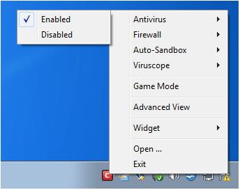 Отключите антивирусное программное обеспечение