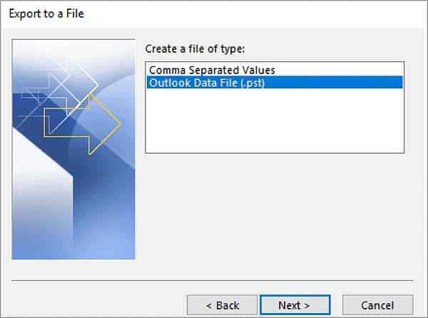 как сделать резервную копию писем Outlook на внешний жесткий диск