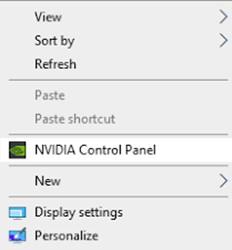 NVIDIA-Systemsteuerung