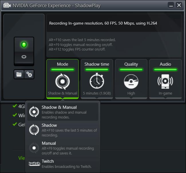 NVIDIAs ShadowPlay