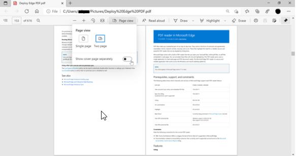 Microsoft Edge-Funktionen