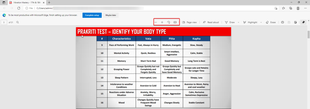 Microsoft Edge PDF-Viewer