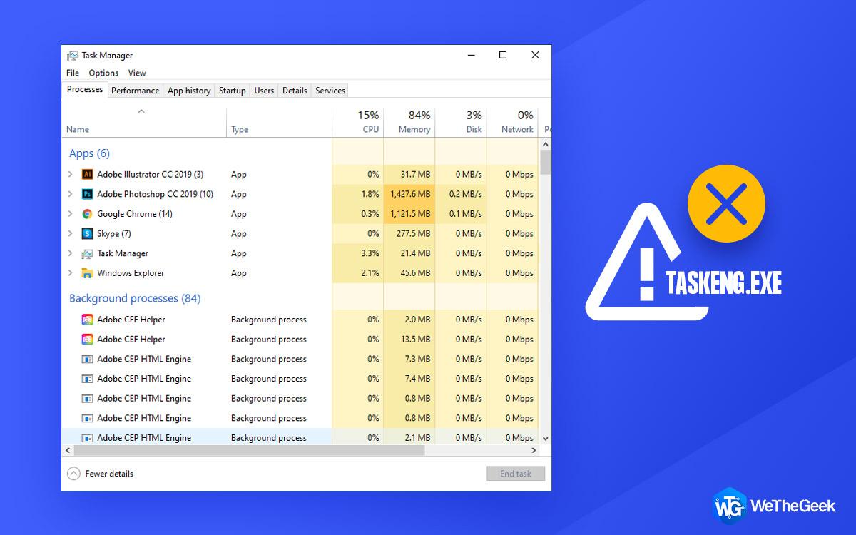 Remove Taskeng.exe Virus from Windows 10
