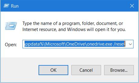 OneDrive Desktop-App zurücksetzen