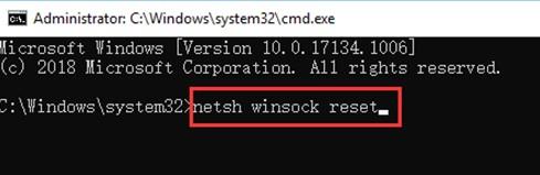 Сбросить Winsock
