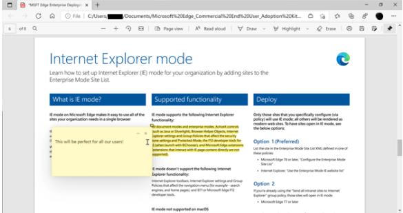 Microsoft Edge PDF-Reader