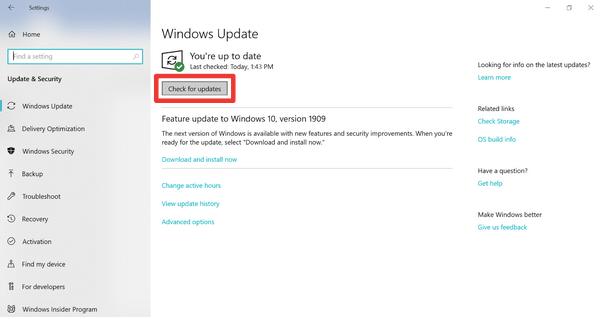 Windows-Betriebssystem aktualisieren